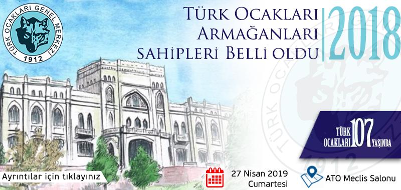 2018 Yılı Türk Ocakları Armağanlarını Kazananlar Açıklandı