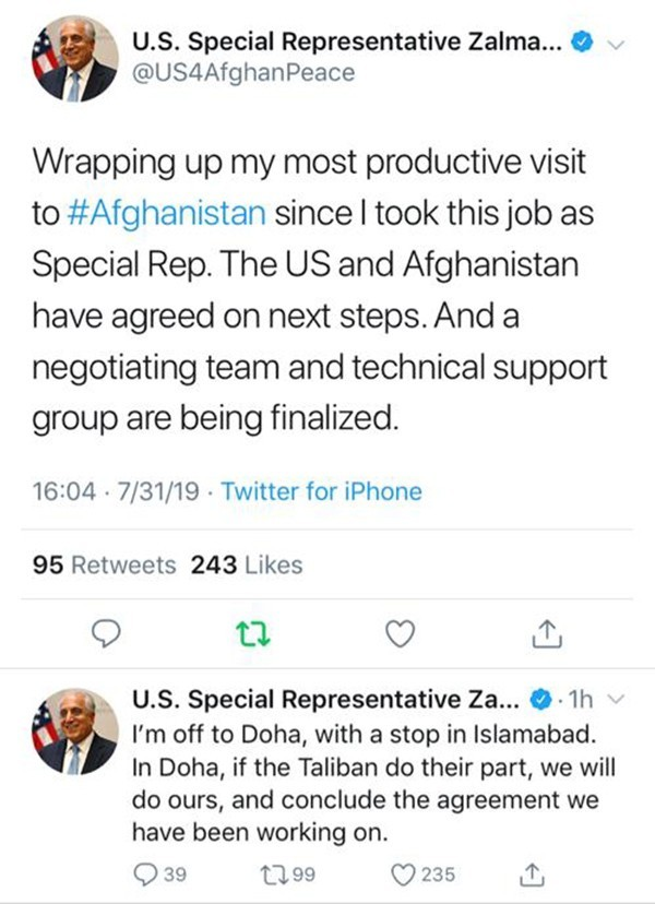Afganistan'da barış her an sağlanabilir