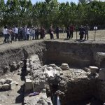 satala antik kentine ilk tur otobusu geldi fae