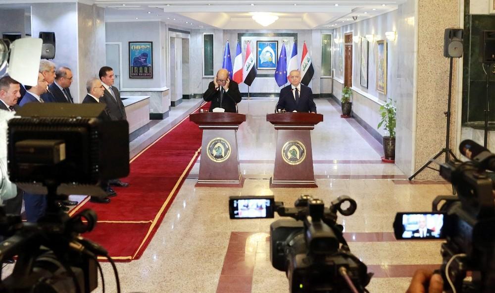 Fransa Dışişleri Bakanı Le Drian, Iraklı mevkidaşı ile görüştü