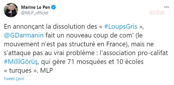FRANSA'DA AŞIRI SAĞCI PARTİ LİDERİ, MİLLİ GÖRÜŞ VAKIFLARININ KAPATILMASINI İSTEDİ