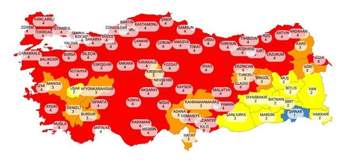 Erdoğan, Kabine Toplantısı sonrası açıklama yaptı: Kırmızı il sayısı 58'e çıktı!