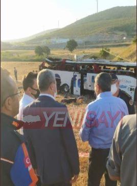 Balıkesir'de otobüs devrildi: 14 ölü, 18 yaralı